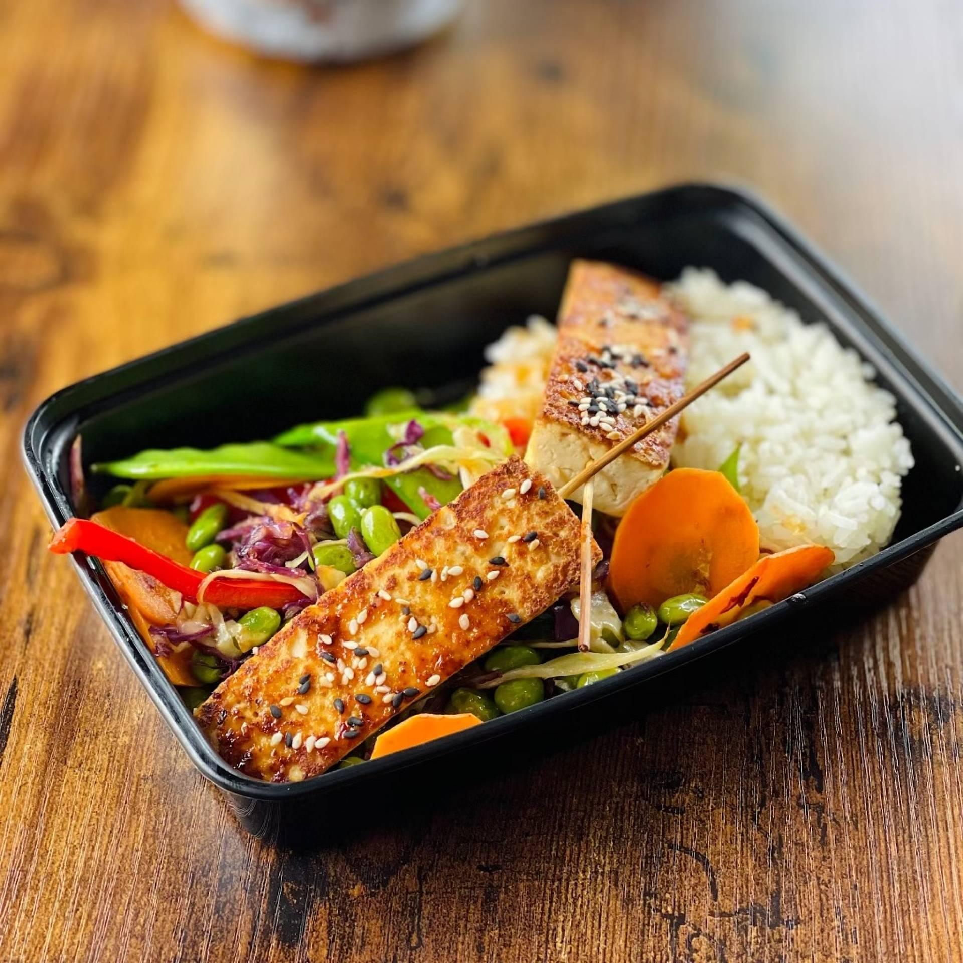Vegan Sesame Teriyaki Tofu