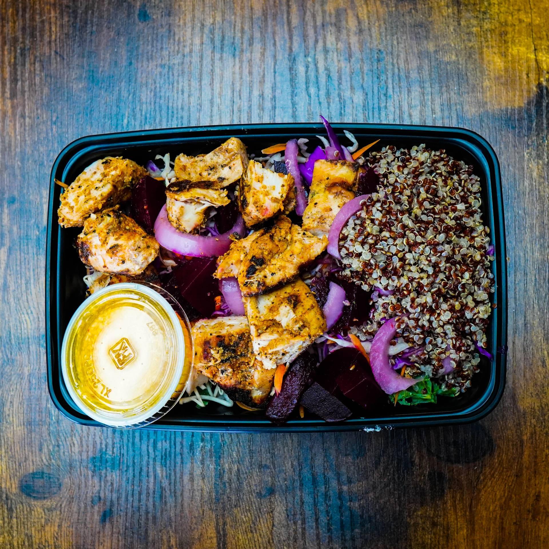 Veggie Power Bowl with Chicken